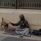 homeless guy and his dog by pauscorpi