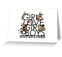 GIRLS/GIRLS/BOYS Greeting Card