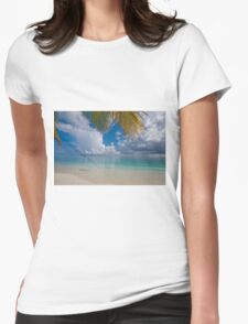 Postcard Perfection. Maldives Womens Fitted T-Shirt