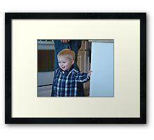 Ho Boy! Framed Print