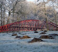Barge Bridge (winter) by Ruben De Wasch