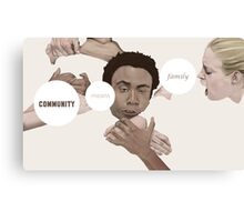 Community means family Canvas Print