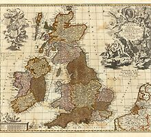 Antique UK Map by robotplunger
