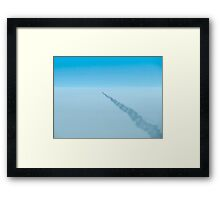 Contrail From Above Framed Print