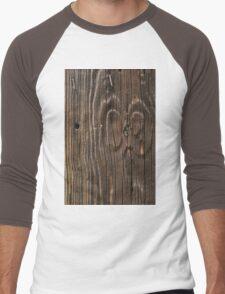 Weathered Wood  Men's Baseball ¾ T-Shirt