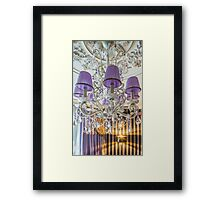 crystal chandelier with shade Framed Print