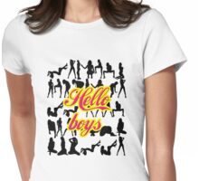 Hello Boys Womens Fitted T-Shirt