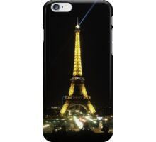 The Eiffel Tower by Night iPhone Case/Skin