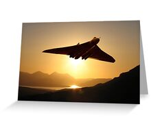 Vulcan sunset Greeting Card