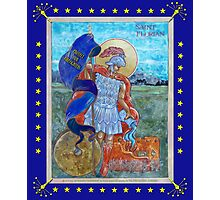 ST. FLORIAN -- INDIANA STATE FLAG Photographic Print