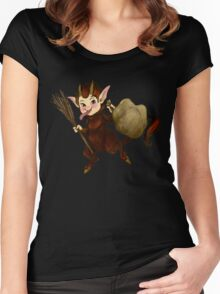 The Littlest Krampus Women's Fitted Scoop T-Shirt
