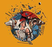 Ghibli's Princess Mononoke by gokufoxface