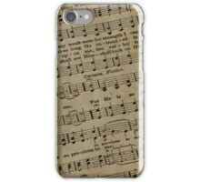 Religious Sheet Music iPhone Case/Skin