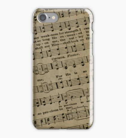 Religious Sheet Music iPhone Case/Skin