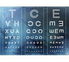 Optician Board Photographic Print