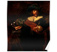 Steampunk Rembrandt - The Night Watch Poster