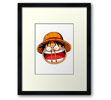 Luffy sticks! Framed Print