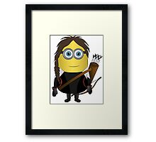 Katniss Hunger Games Minion Framed Print