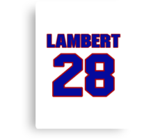 Hockey player Denny LambeNHLS06411 National Hockey player John LeBlanc jersey 28rt jersey 28 Canvas Print