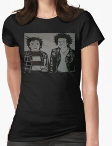 Johnny Rotten And Sid Vicious  Womens Fitted T-Shirt