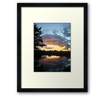 December Sunset 2014 Framed Print