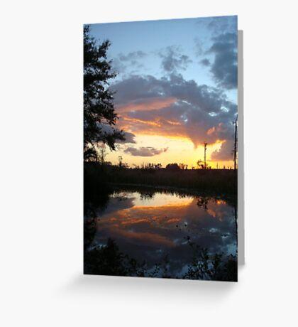 December Sunset 2014 Greeting Card