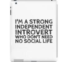 I'm an introvert iPad Case/Skin