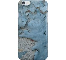 Blue Peeling Paint on Cement iPhone Case/Skin