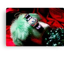 Time For Red And Green Stuff Canvas Print