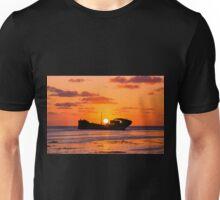Ship Wreck Sunset Unisex T-Shirt