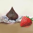 Chocolate And Strawberry Dreams by Marty Yokawonis
