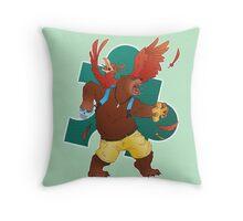 A Bear and Bird Throw Pillow