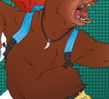 A Bear and Bird Sticker