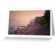 The Holy Shore - Varanasi, India Greeting Card