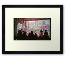 View from a Cafe - Varanasi, India Framed Print