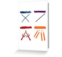 TMNT all icons! Greeting Card