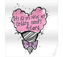 COtton CAndy Heart Poster