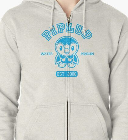 Piplup - College Style Zipped Hoodie