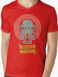 Cthulhu, Dreamer in the Deeps Mens V-Neck T-Shirt