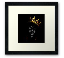 Biggie Crown Framed Print