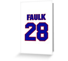 National Hockey player Justin Faulk jersey 28 Greeting Card