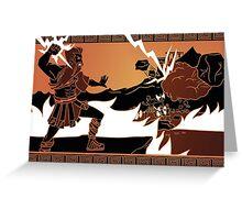 Thunder of Zeus Greeting Card