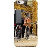 Amish Buggy Parking iPhone Case/Skin