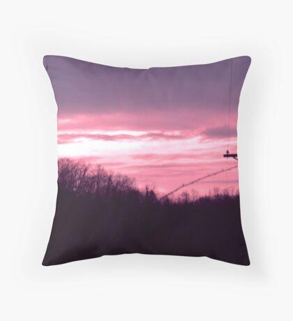 December Sunrise Throw Pillow