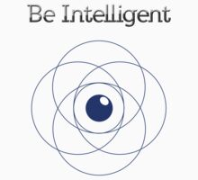 Be Intelligent Erudite Eye - Blue Kids Tee