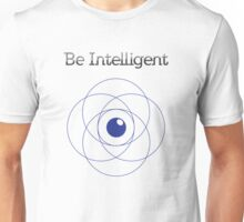 Be Intelligent Erudite Eye - Blue Unisex T-Shirt