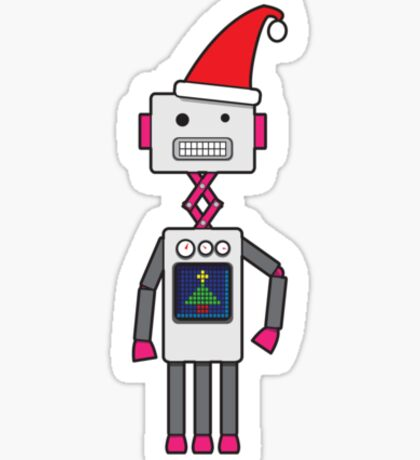 Christmas Robot Sticker