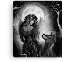 Angel Wolf by studio BURKE Canvas Print