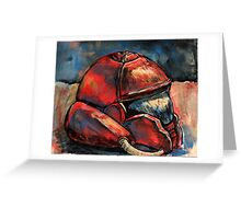Samus Battle Helmet Greeting Card