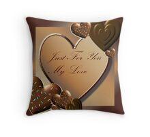 Valentine card Throw Pillow